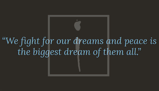 """ALiF Quotes: """"We fight for our dreams and peace is the biggest dream of them all."""""""